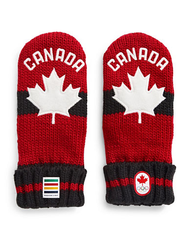 Canadian Olympic Team Collection Youth Red Mittens-RED-X-Small