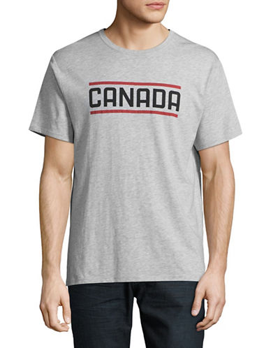 Canadian Olympic Team Collection Mens Moose Tee-GREY-Small