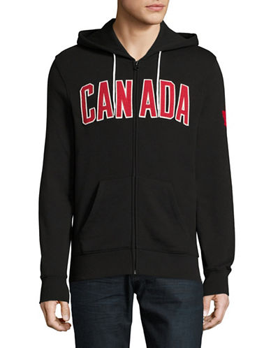 Canadian Olympic Team Collection Mens Core Fleece Hoodie-BLACK-Medium