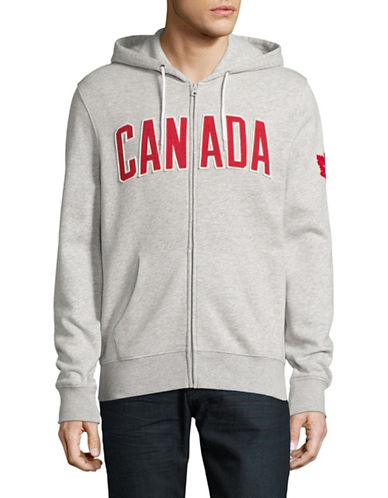 Canadian Olympic Team Collection Mens Core Fleece Hoodie-GREY MIX-Small
