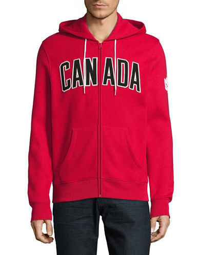 Canadian Olympic Team Collection Mens Core Fleece Hoodie-RED-X-Large