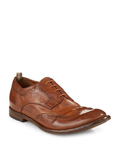 Officine Creative Antonia Bufalo Leather Wingtip Brogue Shoes-BROWN-9