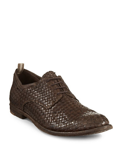 Officine Creative Archive Intreccio Leather Shoes-BROWN-9