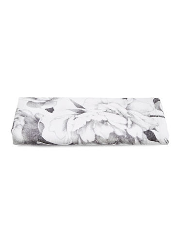 Distinctly Home Cotton Floral Hand Towel-WHITE-Hand Towel