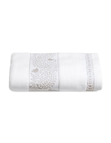 Distinctly Home Paisley Print Hand Towel-SILVER-Hand Towel