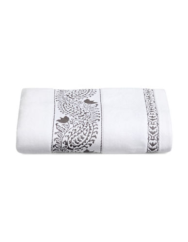 Distinctly Home Embroidered Bath Towel-CHARCOAL-Bath Towel