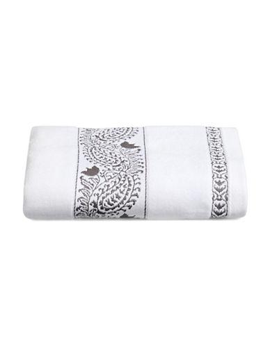 Distinctly Home Paisley Print Hand Towel-CHARCOAL-Hand Towel