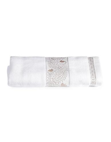 Distinctly Home Embroidered Bath Towel-TAUPE-Bath Towel
