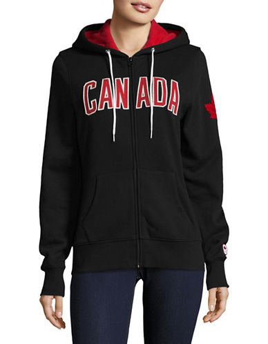Canadian Olympic Team Collection Womens Core Fleece Hoodie-BLACK-Large