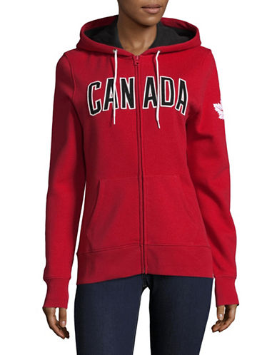 Canadian Olympic Team Collection Womens Core Fleece Hoodie-RED-X-Large
