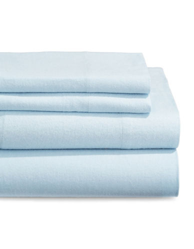 Distinctly Home Four-Piece Flannel Sheet Set-BLUE-King