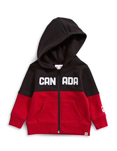 Canadian Olympic Team Collection Infant Colourblocked Fleece Hoodie-RED-18-24 Months