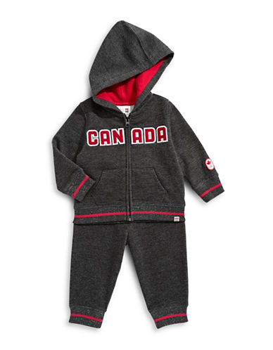 Canadian Olympic Team Collection Toddler Two-Piece Hoodie and Jogger Set-BLACK-3-4