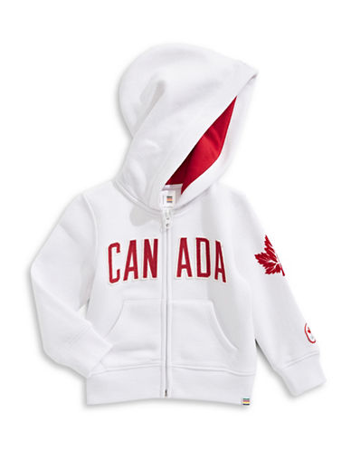 Canadian Olympic Team Collection Infant Core Fleece Hoodie-WHITE-0-6 Months