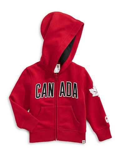 Canadian Olympic Team Collection Infant Core Fleece Hoodie-RED-18-24 Months