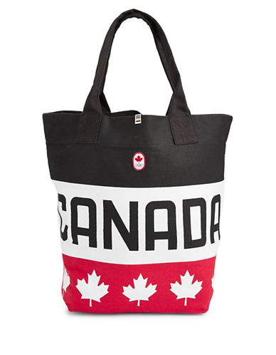 Canadian Olympic Team Collection Canvas Tote Bag-RED-One Size