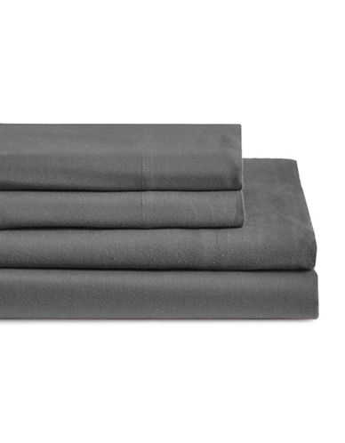 Glucksteinhome Four-Piece Flannel Sheet Set-CASTLEROCK-King