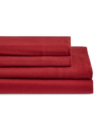 Glucksteinhome Four-Piece Flannel Sheet Set-SUN TOMATO-Double