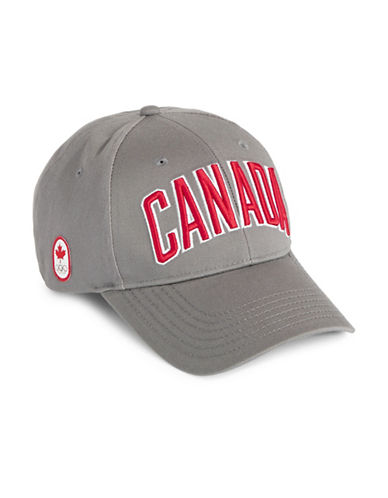 Canadian Olympic Team Collection Adult Canada Wordmark Ball Cap-CHARCOAL-One Size