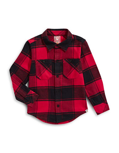 Canadian Olympic Team Collection Toddler Buffalo Check Shirt-RED-3-4