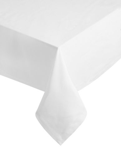 Glucksteinhome Square Catering Tablecloth-WHITE-One Size