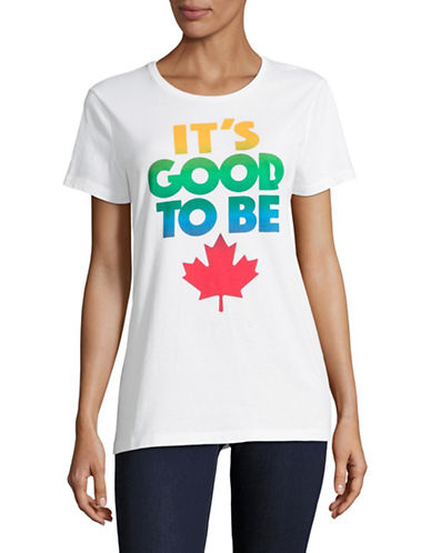 Canadian Paralympic Team Collection Womens Its Good To Be T-Shirt-WHITE-X-Large