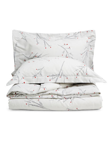 Distinctly Home Three-Piece Woodland Duvet Cover Set-LIGHT GREY-King