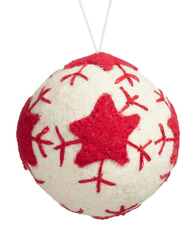 Christmas Street Winter Chalet Felt Ball Ornament-MULTI-One Size