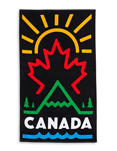Canadian Paralympic Team Collection Graphic Beach Towel-BLACK MULTI-One Size
