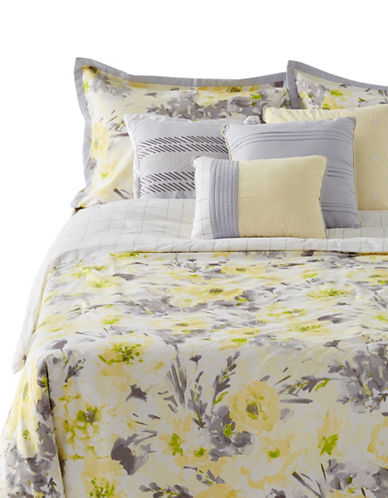 Home Studio Seven-Piece Hayden Comforter Set-GREY/YELLOW-King