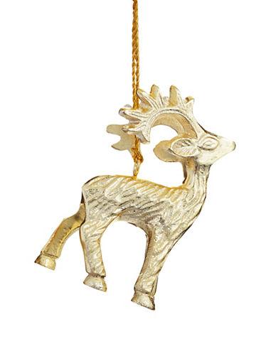 Glucksteinhome Aspen Charm Solid Reindeer Figurine-CHAMPAGNE-One Size