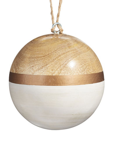 Glucksteinhome Noel Blanc Solid Wood Ornament-WHITE-One Size