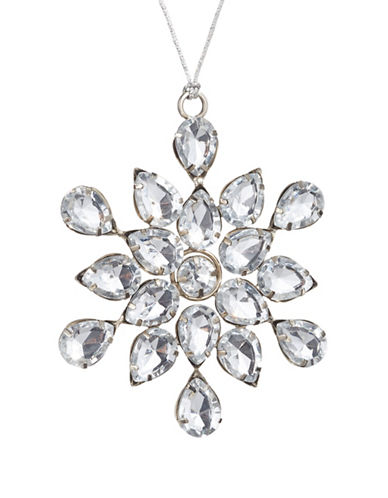 Glucksteinhome Noel Blanc Jewelled Snowflake-CLEAR-One Size