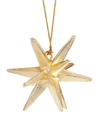 Glucksteinhome Aspen Charm Novarian Star Ornament-GOLD-One Size