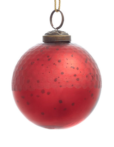 Glucksteinhome Aspen Charm Honeycomb Glass Ornament-RED-One Size