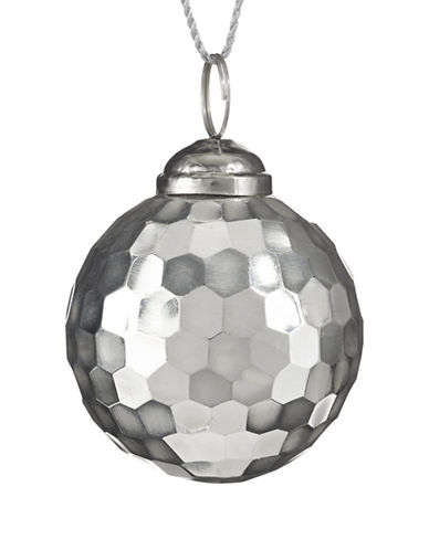 Glucksteinhome Noel Blanc Disco Ball Ornament-SILVER-One Size