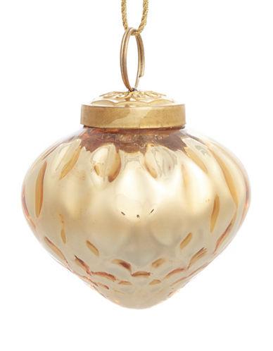 Glucksteinhome Aspen Charm Goldtone Glass Onion Ornament-GOLD-One Size