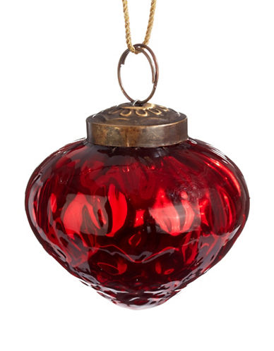 Glucksteinhome Aspen Charm Glass Onion Ornament-RED-One Size