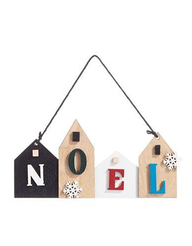 Christmas Street Winter Chalet Wooden Noel Ornament-MULTI-One Size