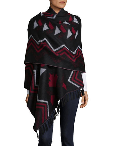 Canadian Olympic Team Collection Adult Mountain Top Woven Wrap-BLACK-One Size