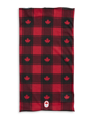 Canadian Olympic Team Collection Buffalo Check Neck Warmer-RED-One Size