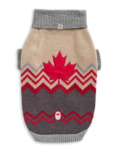 Canadian Olympic Team Collection Country Pet Sweater-GREY-Medium