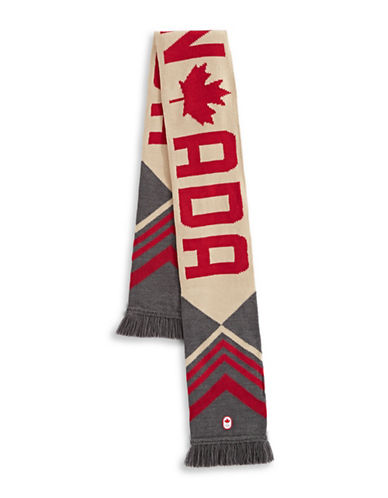 Canadian Olympic Team Collection Adult Country Sweater Scarf-GREY-One Size