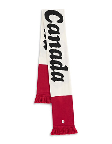 Canadian Olympic Team Collection Adult I Heart Canada Scarf-WHITE-One Size