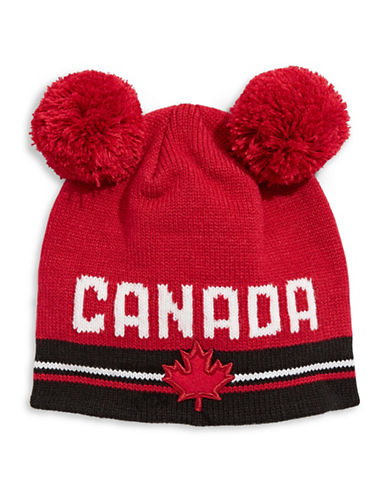 Canadian Olympic Team Collection Toddler Double Pom-Pom Tuque-RED-One Size