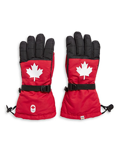 Canadian Olympic Team Collection Team Replica Woven Gloves-RED-Small/Medium