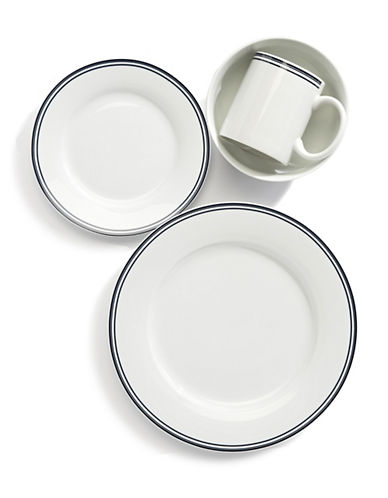 Glucksteinhome French Market 16-Piece Porcelain Dinnerware Set-WHITE-One Size