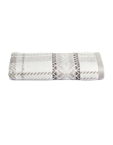 Distinctly Home Set of Two Snowflakes Cotton Hand Towels-GREY-Hand Towel