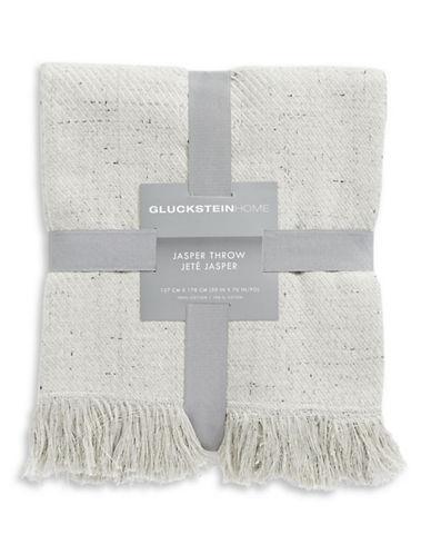 Glucksteinhome Jasper Cotton Throw-GREY-One Size