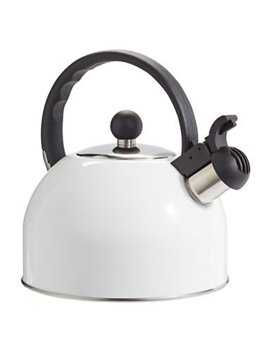 Essential Needs Stainless Steel Whistling Kettle-WHITE-One Size